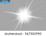 glow light effect. starburst... | Shutterstock .eps vector #567502990