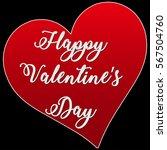happy valentine's day card   Shutterstock .eps vector #567504760