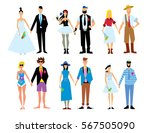 wedding couple isolated raster... | Shutterstock . vector #567505090