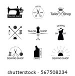 tailor shop icons or logotypes. ... | Shutterstock .eps vector #567508234