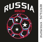 russia flag soccer ball graphic ... | Shutterstock .eps vector #567512638