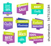big set of raster label ... | Shutterstock . vector #567513184