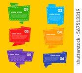 raster badges flat modern style.... | Shutterstock . vector #567513319