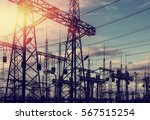 high voltage  power lines at... | Shutterstock . vector #567515254