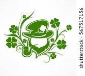 leprechaun lucky symbols on... | Shutterstock .eps vector #567517156