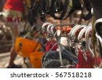 mountain climbing gear  | Shutterstock . vector #567518218
