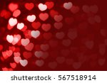 red and white hearts bokeh as... | Shutterstock . vector #567518914