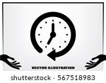 clock icon vector. | Shutterstock .eps vector #567518983