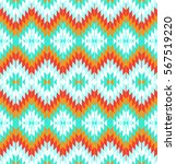 tribal seamless colorful... | Shutterstock .eps vector #567519220