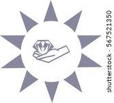 diamond  hand  icon | Shutterstock .eps vector #567521350