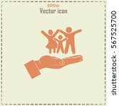family life insurance sign icon.... | Shutterstock .eps vector #567525700