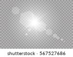 vector transparent sunlight... | Shutterstock .eps vector #567527686