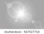 vector transparent sunlight... | Shutterstock .eps vector #567527710