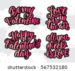 hand drawn lettering design.... | Shutterstock .eps vector #567532180