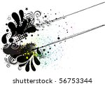 grunge ink background abstract... | Shutterstock .eps vector #56753344