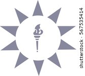 torch  hand  icon   Shutterstock .eps vector #567535414
