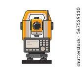 geodetic optical measuring... | Shutterstock .eps vector #567539110