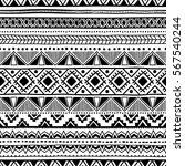 seamless ethnic pattern. black... | Shutterstock .eps vector #567540244