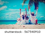 happy family with two kids... | Shutterstock . vector #567540910