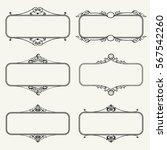 set of calligraphic frames... | Shutterstock .eps vector #567542260