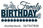 family birthday calendar with... | Shutterstock .eps vector #567547858
