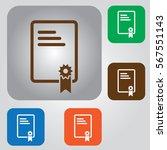 document vector icon. contract... | Shutterstock .eps vector #567551143
