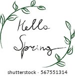 hello spring. hand drawn... | Shutterstock .eps vector #567551314