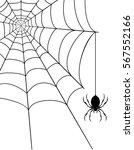 spider web stock illustration... | Shutterstock . vector #567552166