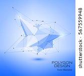 polygonal concept design object ...   Shutterstock .eps vector #567559948