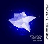 polygonal concept design object ...   Shutterstock .eps vector #567559960