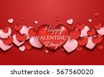 valentine's day greeting card... | Shutterstock .eps vector #567560020