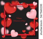 valentine's day background with ... | Shutterstock .eps vector #567560230