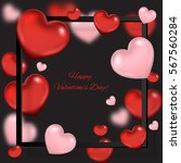 valentine's day background with ... | Shutterstock .eps vector #567560284