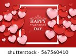 valentine's day background with ... | Shutterstock .eps vector #567560410