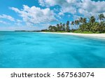Tropical White Sandy Beach Wit...