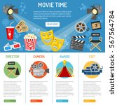 cinema and movie time... | Shutterstock .eps vector #567564784