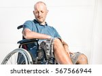 disabled man with handicap on... | Shutterstock . vector #567566944