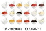 Set Of Different Sauces...
