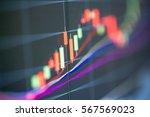stock exchange board background | Shutterstock . vector #567569023