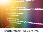 software developer programming... | Shutterstock . vector #567576796