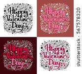 love postcard. lettering love.... | Shutterstock .eps vector #567578320