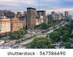 9 de julio street is main street in Buenos Aires,  Argentina