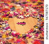Two Pieces Of Puzzle  Heart ...