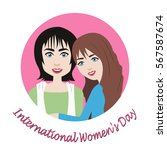 international women's day  8... | Shutterstock .eps vector #567587674