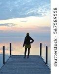 Girl On The Pier. Lake Of Zug ...