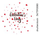 valentines day greeting card... | Shutterstock .eps vector #567593080