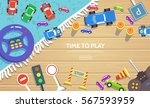 road safety for kid template in ... | Shutterstock .eps vector #567593959