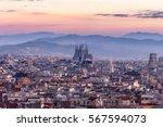 Sagrada Familia And Panorama...