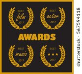 set of awards for best. film... | Shutterstock .eps vector #567594118