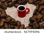 Heart Of Roasted Coffee Beans...